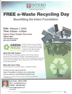 Community Event:  eWaste Recycling, Saturday 2/7/15